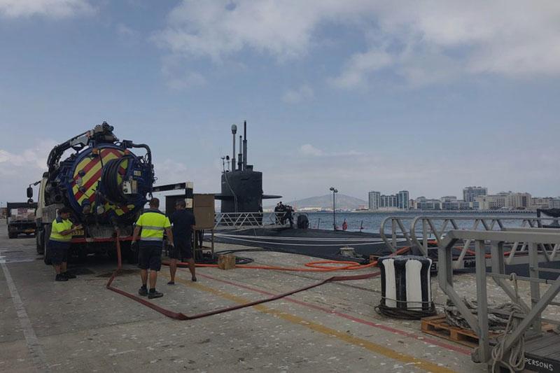Mega Truck With Submarine Image